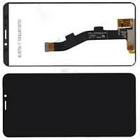 Дисплей модуль Meizu M8 в зборі з тачскріном, чорний