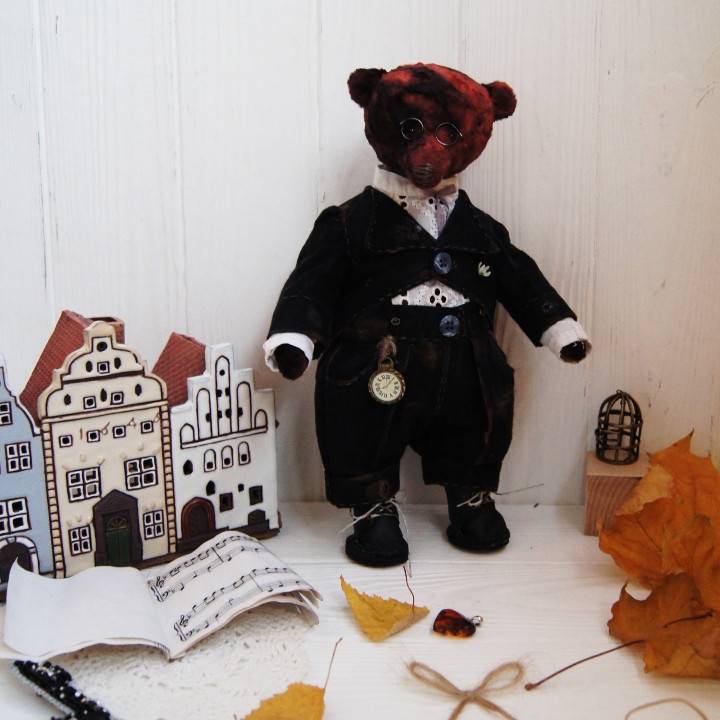 Медведь в стиле Тедди, музыкант