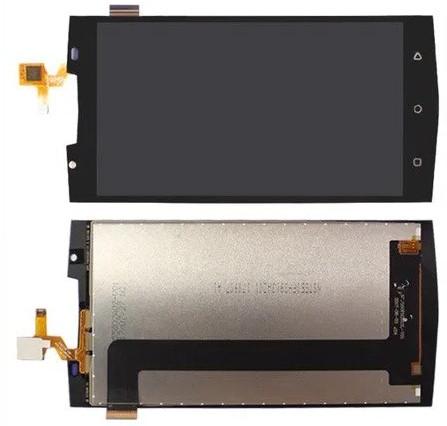 Дисплей модуль Oukitel K10000 Pro в зборі з тачскріном, чорний