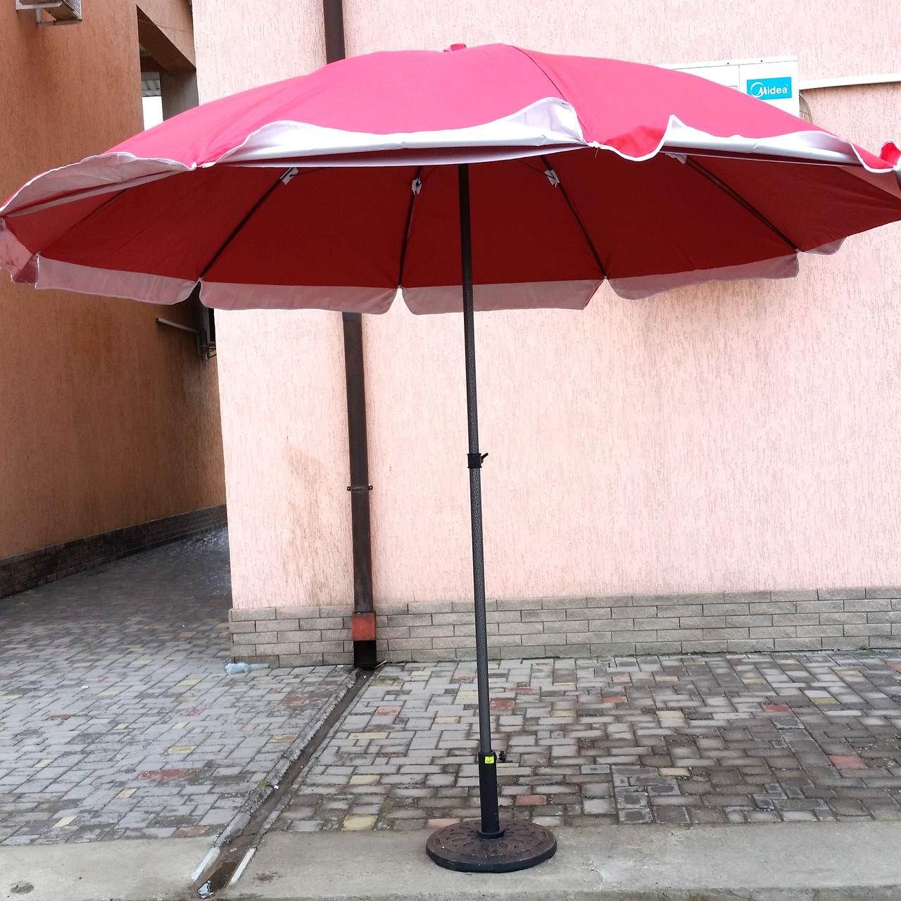 Зонт садовый, торговый, круглый, мощный, двойная ткань, 2,8 м, мод-109