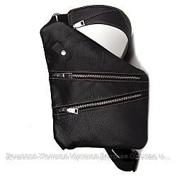 Мужская сумка Cross Body кожа(черный)