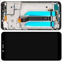 Дисплей модуль Xiaomi Redmi 6 / 6A в зборі з тачскріном, чорний, з рамкою