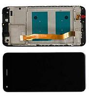 Дисплей модуль Huawei Nova Lite (2017), P9 Lite mini, Y6 Pro (2017), з рамкою, чорний