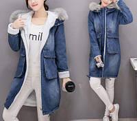 Longines Island Женская джинсовая куртка пальто хлопок, фото 1