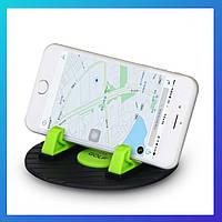 Автомобильный держатель и противоскользящий коврик для смартфона, планшета, навигатора, телефона, фото 1