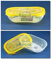 """Емкость (судок) пищевая 0,5л 17,3х11,7х4,7см пластиковая с крышкой """"Овальный №1"""" Ал-Пластик"""