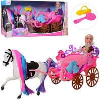 Игровой набор детская карета с лошадью, куклой и аксессуарами 68156