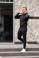 Спортивный костюм мужской весна-лето-осень (черная худи + черные штаны), фото 1