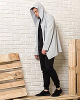 Серая мантия с капюшоном + черные спортивные штаны мужские (комплект)
