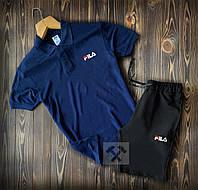 Мужская футболка поло  и шорты FILA (фила)