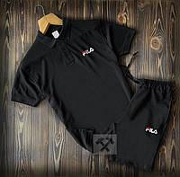 Мужской комплект шорты и футболка Фила (Fila)