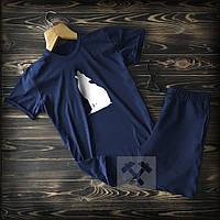 Спортивні Чоловічі шорти і футболка c Вовком / Літні комплекти для чоловіків