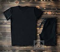 Мужская черная футболка и мужские черные шорты / Летние комплекты для мужчин