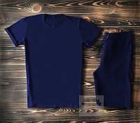 Мужская темно-синяя футболка и мужские темно-синие шорты / Летние комплекты для мужчин, фото 1
