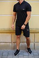 Чоловічий річний комплект шорти і футболка поло Fila (Філа)