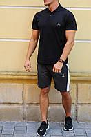 Чоловічі шорти з лампасами і футболка поло Jordan (Джордан)