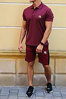 Чоловічі шорти з лампасами і футболка поло Reebok (Рібок)