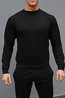 Черный мужской свитшот / Свитшоты весна-осень, фото 1