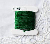 Мулине вискоза, 4м, 6 сложений, темно зеленый