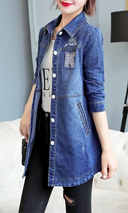 Longines Island Женская джинсовая куртка платье хлопок