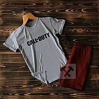 Cпортивные Мужские шорты и футболка Call of Duty (кал дьюти) / Летние комплекты для мужчин