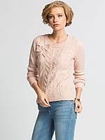 Нежно-розовый женский свитер LC Waikiki / ЛС Вайкики с бантиками
