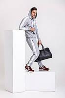 Теплый костюм с лампасами - серая худи с лампасами и серые штаны с лампасами / ОСЕНЬ-ЗИМА, фото 1