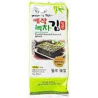 Чипсы-нори Ock Dong Ja с зеленым чаем 35г