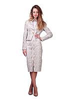 Женский короткий деловой пиджак с принтом