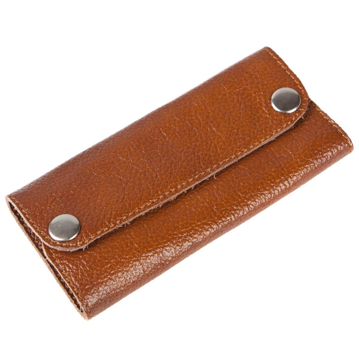 Ключница-портмоне кожанная 13х6,5х2,5 BagHouse на 6 ключей    клКН13кор