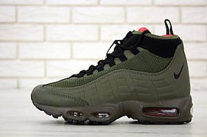 Мужские зимние кроссовки Nike Air Max 95 Sneakerboot Olive Red Cargo