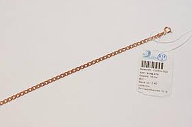 Позолоченный браслет 585 пробы, на серебре, 19 см