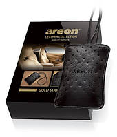 Ароматизатор кожаный мешочек Leather Collection Areon Gold Star Золото ALC01