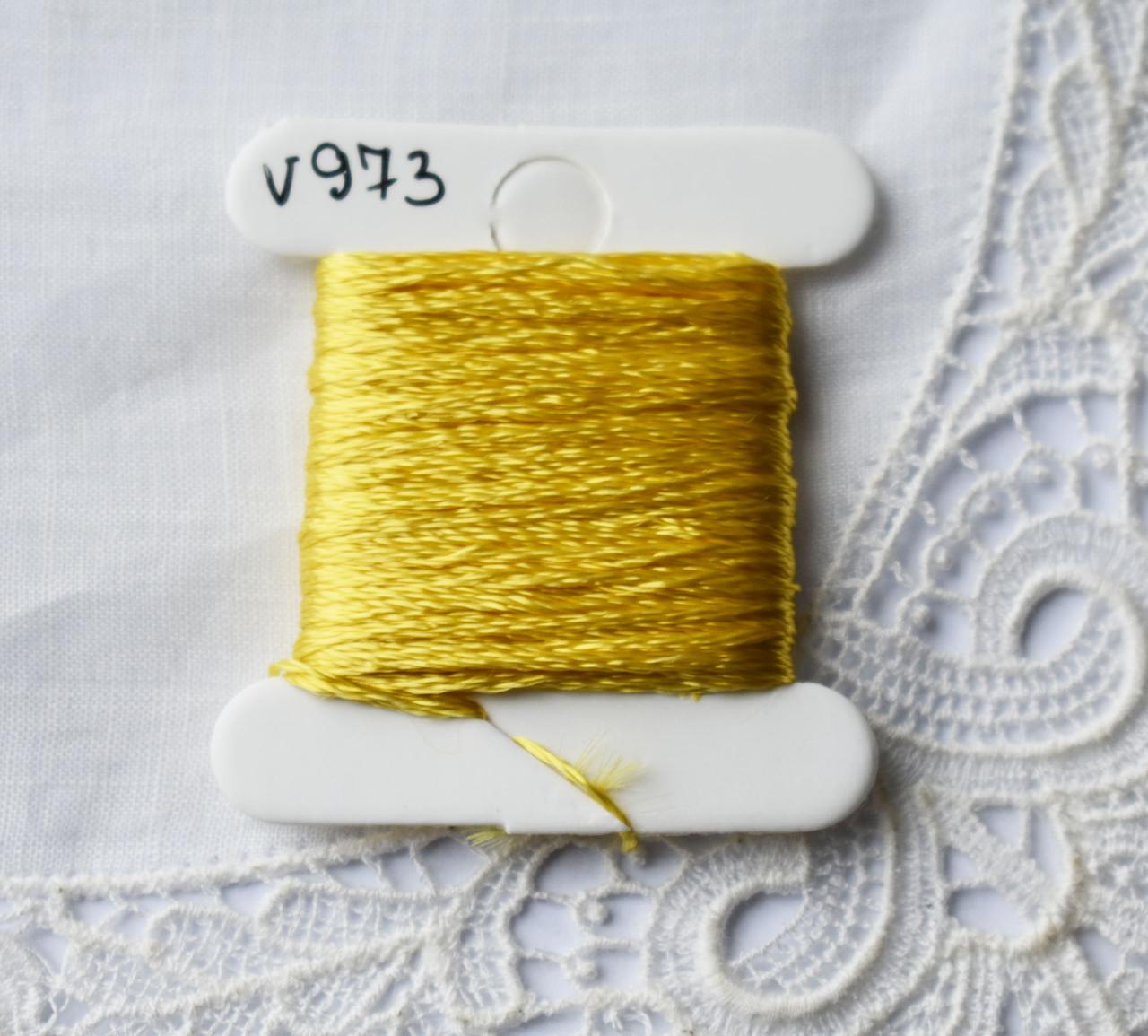 Мулине вискоза, 4м, 6 сложений, желтый