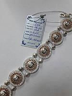 Серебряный браслет Versace с вставками золота 375 пробы и цирконом