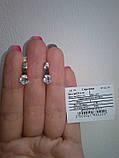 Серебряные серьги Нежность 925 пробы с золотыми вставками 375 пробы, фото 2