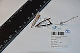 Позолоченные серьги 585 пробы на серебре 925 пробы, фото 5