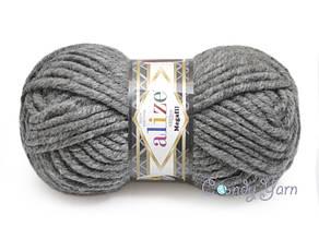 Alize Megafil Super Lana, Средне-серый №182