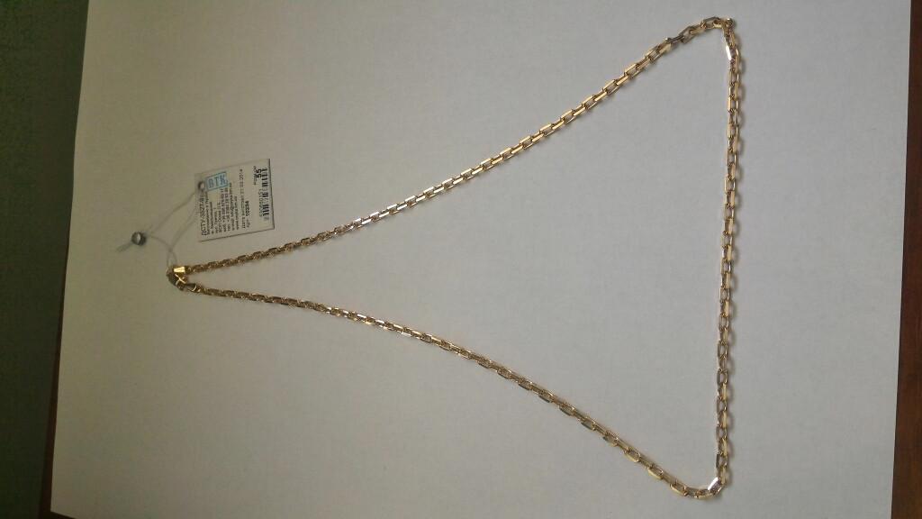 Золотая цепь 585 пробы, плетение якорь, 55 см