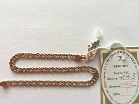 Золотой браслет  585 пробы, плетение Рембо