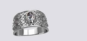 Серебряный перстень 925 пробы унисекс