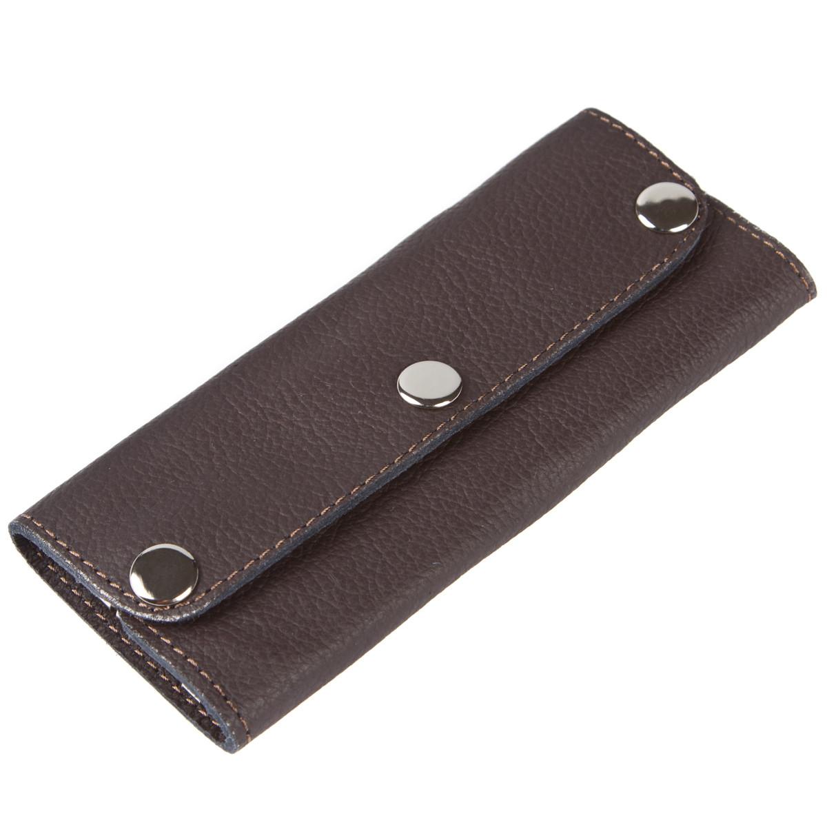 Ключница-портмоне кожанная на 6 ключей BagHouse  15х6,5х2,5    клКН15кор