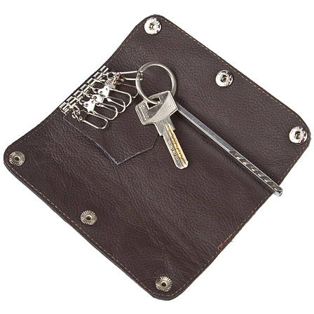 Ключница-портмоне кожанная на 6 ключей BagHouse  15х6,5х2,5    клКН15кор, фото 2