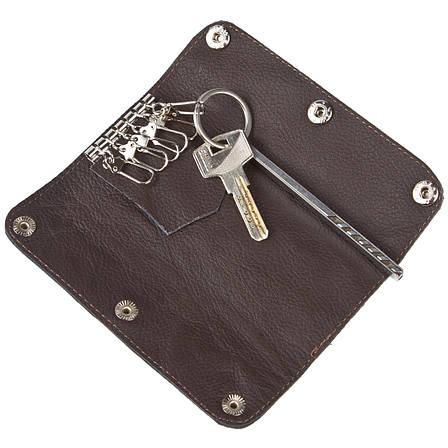 Ключниця-шкіряне портмоне на 6 ключів BagHouse 15х6,5х2,5 клКН15кор, фото 2