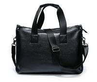 Стильная мужская сумка черная кожзам
