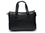 Жіноча сумка чорна кожзам, фото 3