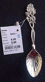 Ложка серебряная 875 пробы Роза