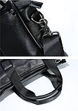 Жіноча сумка чорна кожзам, фото 4
