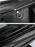 Жіноча сумка чорна кожзам, фото 5