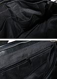 Жіноча сумка чорна кожзам, фото 6